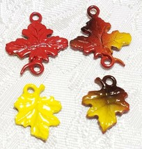 AUTUMN LEAF FINE PEWTER PENDANT CHARM - 2x21x17mm