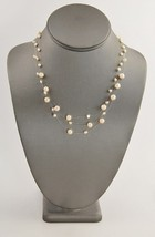 """VINTAGE ESTATE Jewelry 17"""" FLOATING PEARL ADJUSTABLE NECKLACE PALE CORAL - $10.00"""
