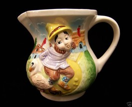 Vintage 1979 Hoffman Pitcher Goose W/ The Golden Eggs Nursery Rhyme - $15.04