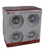 Utilitiech 4 Pack 3-inch White GU10 Recessed Lighting Baffle Kits - $25.00