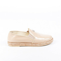 Chanel Patent Leather CC Espadrille Flats SZ 37 - $335.00