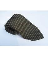 "Giorgio Armani Cravatte Pure Silk Tie Vintage Brown Stripes 61"" Long 31/... - $33.85"