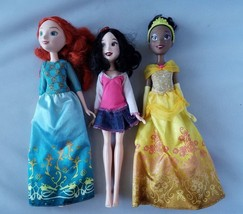 Disney Princess Classic Dolls Snow White Tiana Meredith Set of 3 Toys - $19.52