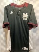 Mississippi State MSU Bulldogs Adidas Button Jersey Shirt Men's Size L - $29.69