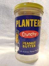 Vintage 1970's Planters Peanut Mr Peanut Crunchy Peanut Butter Jar 18 Oz - $11.95