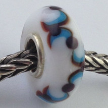 Authentic Trollbeads Ooak Universal Unique 130 Murano Glass Bead Charm F... - $33.24