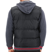 Men's Hybrid Puffer Lightweight Utility Insulated Hooded Quilted Zipper Jacket image 3