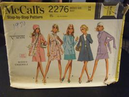 McCall's 2276 Dress, Blouse, Skirt, Coat, Scarf & Jacket Pattern - Sz 14... - $10.00
