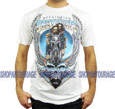 Affliction Easyriders Deadhead A11584 New Short Sleeve Graphic T-shirt f... - $52.40