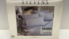 Vtg Stevens Royal Blue Smoke King Flat Sheet New - $14.80