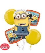 Despicable Me Minions | Birthday Foil Balloon Bouquet/Party Favors /Priz... - $11.99