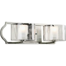 Progress Lighting Caress 2-Light Polished Nickel Bathroom Vanity Light - €130,49 EUR