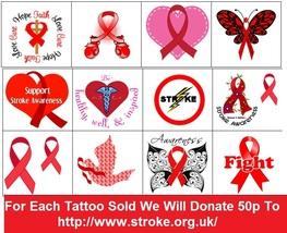 Stroke   Awarenes Temporary Tattoos  - $11.00