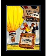 Vintage Olympia Beer Hot Air Balloon Poster, Bar Wall Art  - $19.99+