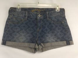 Mini Jean Shorts Arizona Jean Size 5 Women Blue Denim Short 5 Pocket Sou... - $19.60
