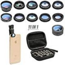 11 in 1 Cell Phone Camera Lens Kit Wide Angle Lens & Macro Lens+Fisheye ... - $23.65