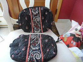 Vera Bradley set of 2 large cosmetics in retired Houndstooth pattern - $25.00