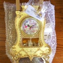 Disney Winnie the Pooh Castle Clock Table Clock Gold LOVE YOU LOTS with carton - $58.41