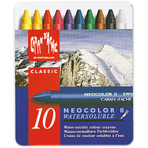 Caran D'Ache NeoColor II Water Soluble Wax Pastel Set 10/Pk- - $22.45