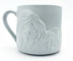 2016 Starbucks Coffee Mug 2016 Gray Mermaid Siren Raised Cup 12 oz Ceramic  - $18.02