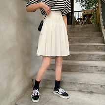Women Black Pleated Skirt Outfit Plus Size Black Tennis Skirt image 5