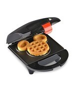 Electric Waffle Maker Disney Mickey Mini Black ... - $22.35