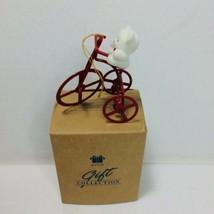 Avon Teddy On A Bike Vintage Christmas Ornament - $12.19