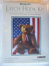 Caron Latch Hook Kit 20 Inch x27 Inch -All American Teddy - $44.10