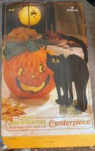 Jack-O-Lantern Black Cat Centerpiece Hallmark 1981 Honeycomb 4 Witches Plus - $18.00
