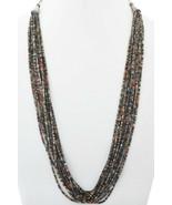 Santo Domingo Heishi Necklace, 16 Strands, Vintage 80s, Penn Shell & Tur... - $559.00