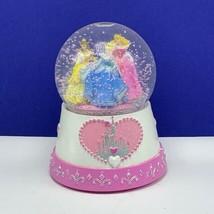 Walt Disney snowglobe Cinderella Belle Sleeping Beauty Aurora Princess snowdome - $120.77