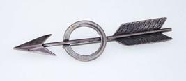 David Navarro Sterling Silver Arrow Circle Pin Brooch Nice - $217.03