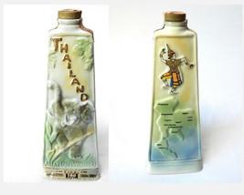 Jim Beam Whiskey Decanter Thailand A Nation Of Wonders VTG 1969 Empty  - $34.60