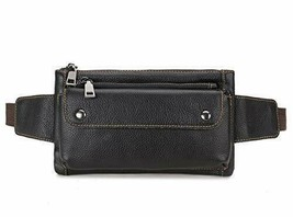 Loyofun Unisex Brown Genuine Leather Waist Bag Messenger Fanny Pack Bum Bag - $55.43+