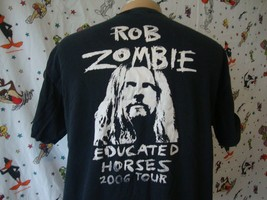 Rob Zombie Educated Horses Stage Crew Heavy Metal 2006 Tour T shirt XL - $79.19