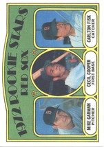 1972 Topps #79 Mike Garman/Cecil Cooper/Carlton Fisk Red Sox Red Sox Rookies EX/ - $30.00