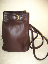 AUTH COACH B7H 4162 Chocolate Brown Leather Bucket Bag / Back Pack Style - $62.58