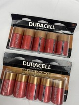 (2)  Duracell Quantum D Alkaline 1.5v Batteries Power Check 5ct 10ttl 2027 - $39.99