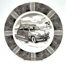 222 Fifth Slice of Life SURF WOODY Dinner Plate Marla Shega AS IS - $17.95