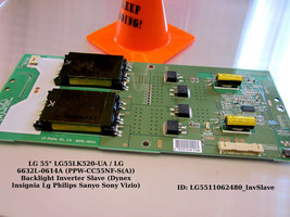 LG 6632L-0614A (PPW-CC55NF-S(A)) Backlight Inverter Slave [See List] - $18.00