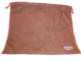 "COACH Genuine Brown COTTON DRAWSTRING DUST SHOE STORAGE BAG MEDIUM 14"" x... - $14.24"