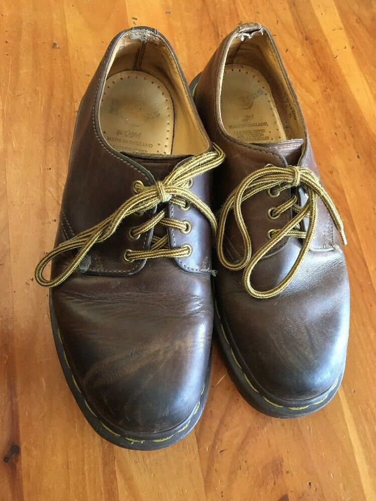 Dr. Martens Original Brown Leather 5 1561/59 4 eye Oxfords Docs Made in England - $19.79
