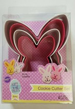 Wilton 4 Piece Bunny Shaped Nesting Cookie Cutter Set Easter - $4.94