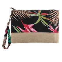 Botanical printed Wristlet bag  - $19.95