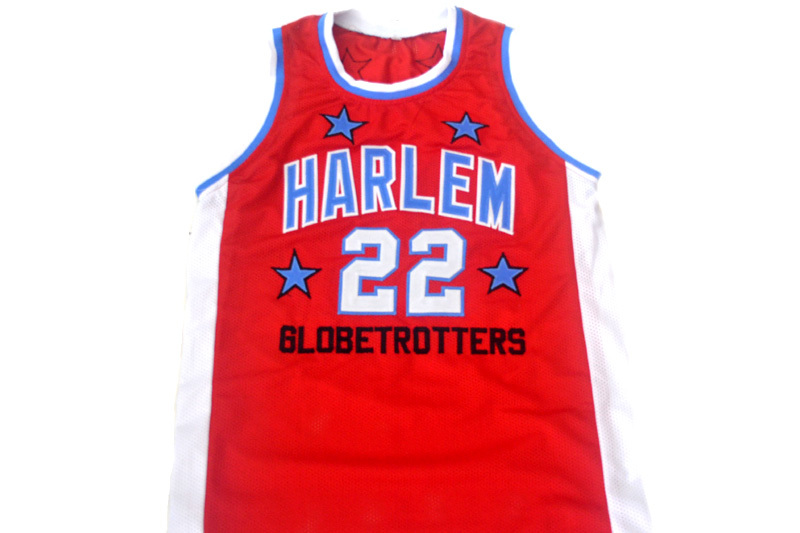Curly #22 Harlem Globetrotters New Men Basketball Jersey Red Any Size