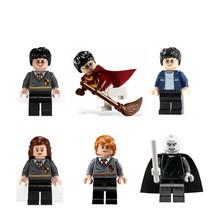 6pcs Harry Potter Figure Hemione Ron Lord Voldemort Fit Lego Minifigure Set - $11.99