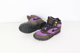 Vtg 90s Nike Womens 6 Caldera Plus Suede Leather Ankle Hiking Boots Brow... - $71.39