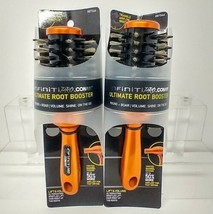 2 Infinity PRO Ultimate ROOT BOOSTER STYLING BRUSH Conair Round Boar Bri... - $11.89