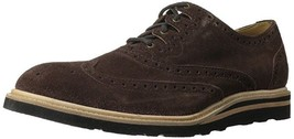 NEW COLE HAAN CHRISTY WEDGE Gilley OXFORD (C12038) Brown Snuff SUEDE 8.5... - $88.81