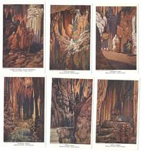 VA Set of 6 Luray Caverns Paintings by J W Hawkins Vintage 1909 Postcard - $19.95